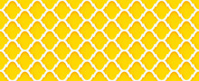 Moroccan Quatrefoil Geometric Seamless 3d Wall Yellow And White Pattern Interior Home Decor