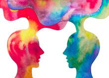 Dipinto Acquerello Due Persone...