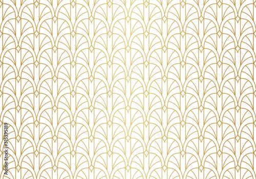 Obraz Vector abstract arabesque seamless pattern. Geometric classic background. Vintage art deco texture. - fototapety do salonu
