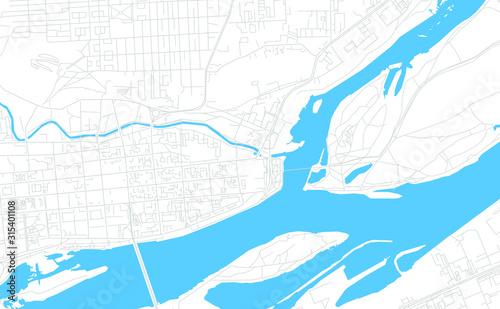 Fototapeta Krasnoyarsk, Russia bright vector map obraz