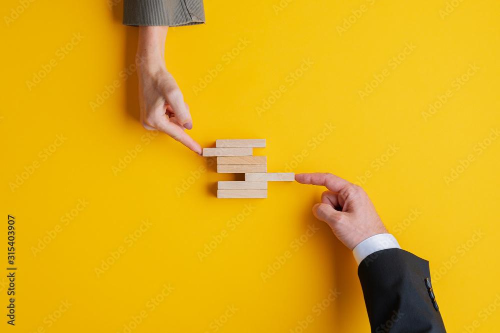 Fototapeta Business teamwork and cooperation concept
