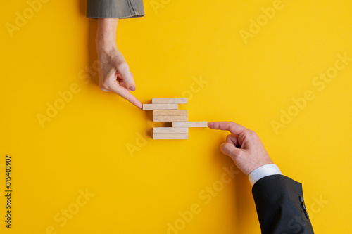 Business teamwork and cooperation concept Wallpaper Mural