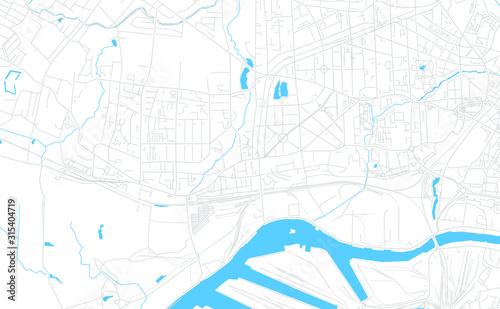Cuadros en Lienzo  Kaliningrad, Russia bright vector map