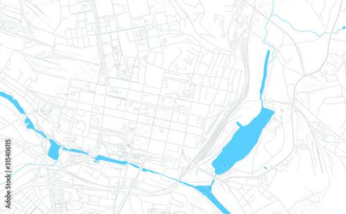Photo Belgorod, Russia bright vector map