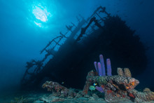 Old Wreck Ship On Underwater B...