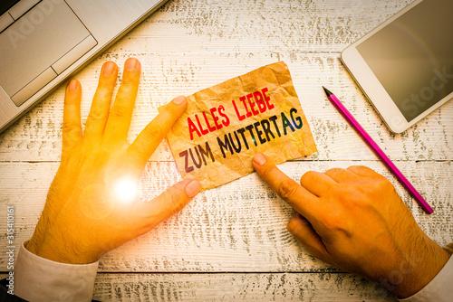 Word writing text Alles Liebe Zum Muttertag Wallpaper Mural