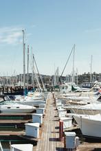Passage On Wooden Pier Between...