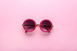 canvas print picture - Modern sunglasses on pink background