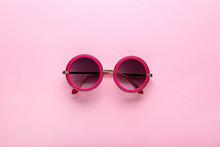 Modern Sunglasses On Pink Background
