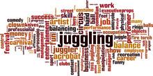Juggling Word Cloud
