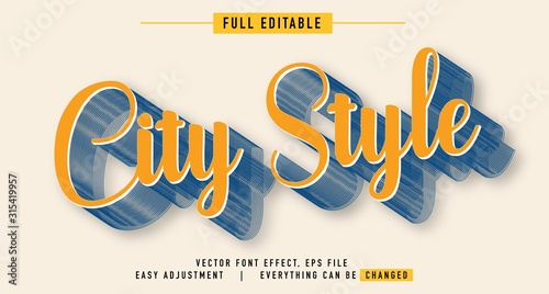 Vászonkép elegant and colorful text effect design, full editable vector, easy to adjust to