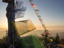 Germany, Bavaria, Prayer Flags...