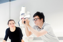 Sudents Studying Robotic At An...
