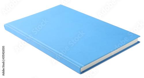Stylish light blue notebook isolated on white Billede på lærred