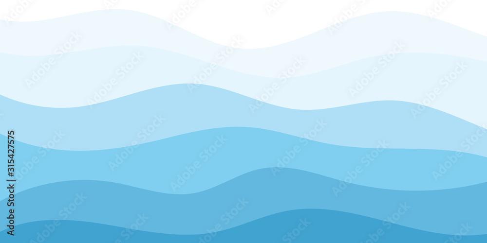 Fototapeta Abstract Water wave vector illustration design background
