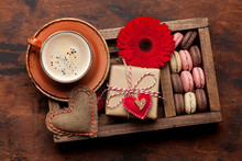 Valentines Day Card With Coffe...