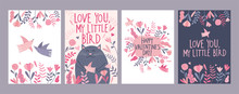 Set Of Valentine's Day Card Wi...