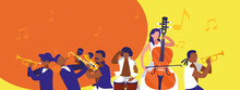Musicians With Instruments Of Music Festival Vector Design