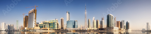 Obraz Cityscape of Dubai and panoramic view of Business bay, UAE - fototapety do salonu