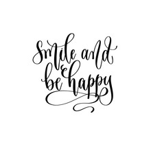 Smile And Be Happy - Hand Lett...