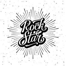 Rock Star Lettering Starburst ...