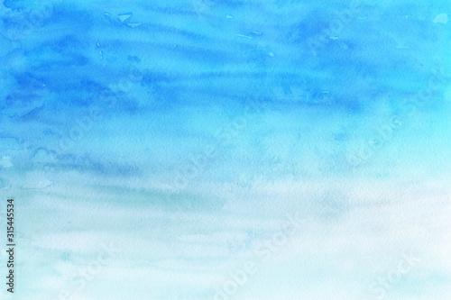 Textura parede pintada em aquarela com tons de azul. Canvas Print