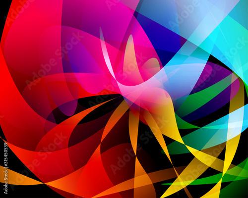 Fényképezés Abstract vector design with colorful gradation