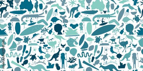 Australian life, nature and animals Canvas Print