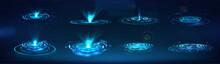 HUD GUI Holograms And Futurist...