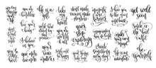 Set Of 25 Positive Quotes Desi...