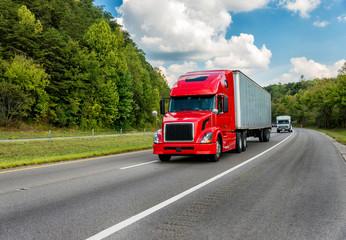 Red Truck on Interstate REWORKED