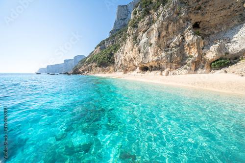 Stampa su Tela Cala Gabbiani beach, Sardinia, Italy