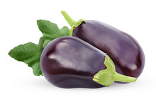 Isolated Eggplant On A White B...