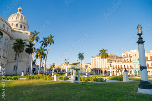Capitol Building in Havana. The Capitol in La Habana Vieja, Cuba Tablou Canvas