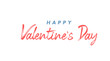 Happy Valentine's Day lettering style text.