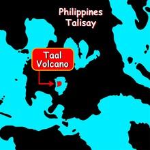 Volcano Taal On Map Islands. S...