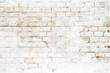 Leinwandbild Motiv Background of rustic white brick wall