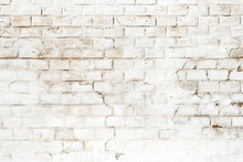 Background Of Rustic White Brick Wall