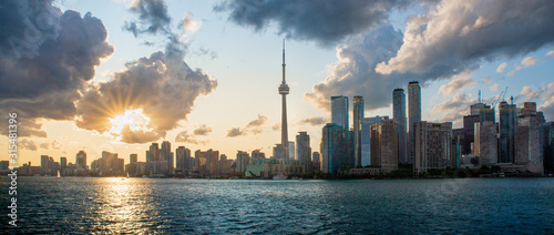 Sunset in Toronto Canvas Print