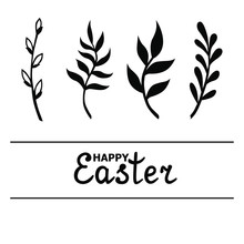 Vector Illustrations Of Easter...