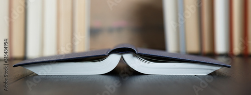 Closeup hardcover pocket book upsite down Fototapet