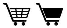 Full And Empty Shopping Cart Symbol Shop And Sale Icon