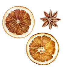 Anise Star Dried Orange Slices...