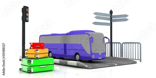 Obraz bus.3d renders. - fototapety do salonu