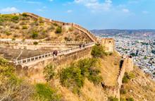 Walls Of Nahagarh Fort At Jaipur - Rajasthan, India