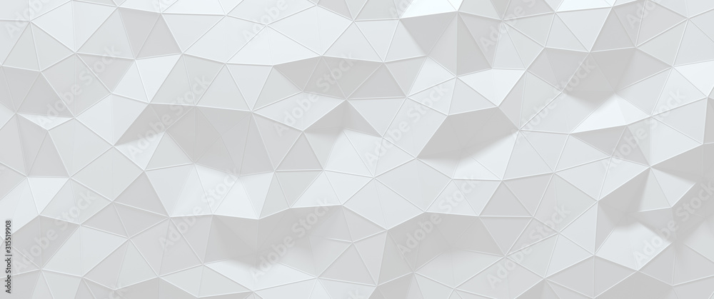 Low polygon stereo background for 3D rendering