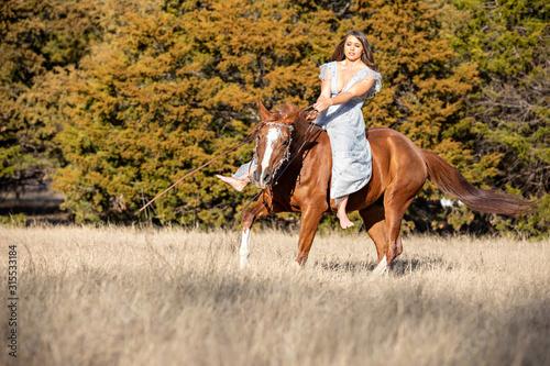 Arabian and Rider Canvas Print
