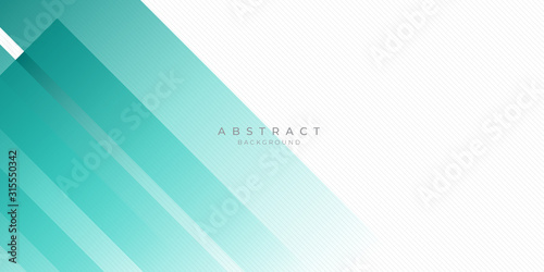 Fototapety, obrazy: Modern Dark Green Turquoise Grey White Line Abstract Background for Presentation Design Template. Suit for corporate, business, wedding, and beauty contest.