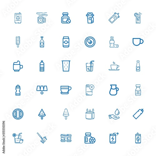 Editable 36 refreshment icons for web and mobile Fototapet