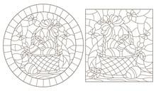 Set Of Contour Illustrations O...